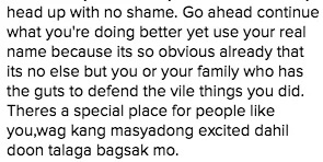 Sunshine Dizon claps back at basher on Instagram account