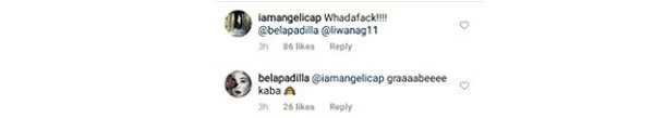 Angelica Panganiban goofs around, leaves funny comment on Carlo and Bela's photo