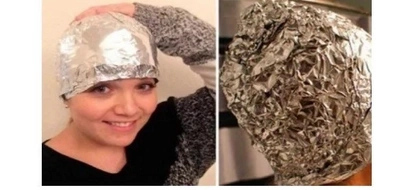 Amazing TRICK: A girl put aluminum foil after washing the hair and she delighted the best hairdresses of the world with this trick!