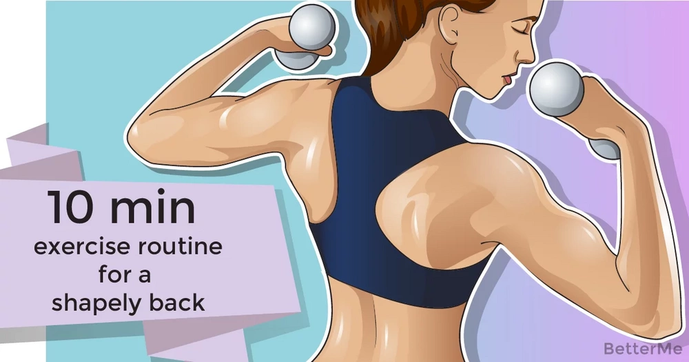 10-minute exercise routine for a shapely back