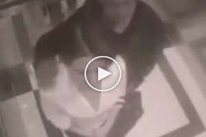 Young lady stabbed a pervert in the elevator. Nice kick, girl!