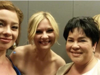 Andi Eigenmann takes selfies with Kirsten Dunst, Vanessa Paradis, and Diego Luna