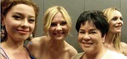 Andi Eigenmann takes selfies with Kirsten Dunst, Vanessa Paradis, and Diego Luna