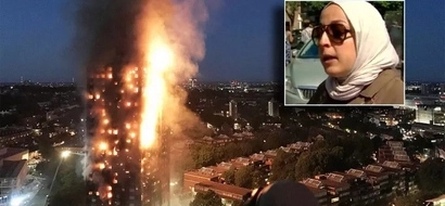 Desperate mom throws her baby out the window of the flaming London Tower and witnesses a miracle