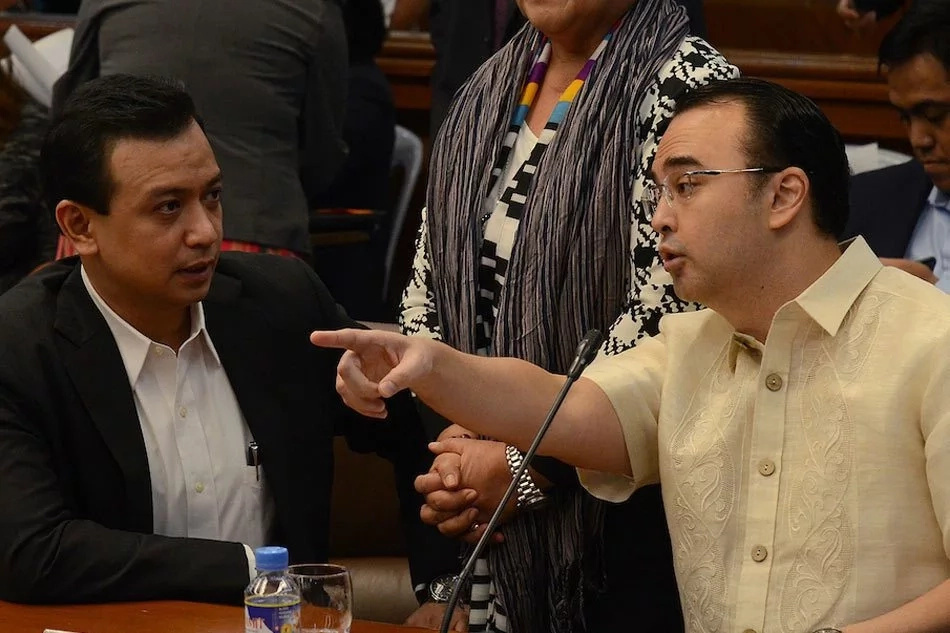 Trillanes sorry for unruly behavior towards Cayetano