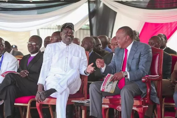 Uhuru to beat Raila in round one if elections are held today -opinion poll