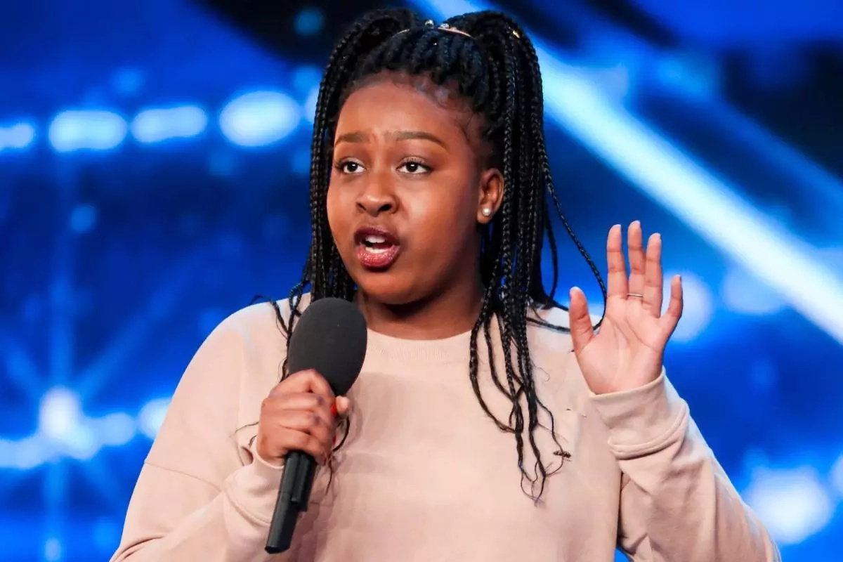 A girl with a unique voice. Sarah Ikumu, the Britain's got talent star