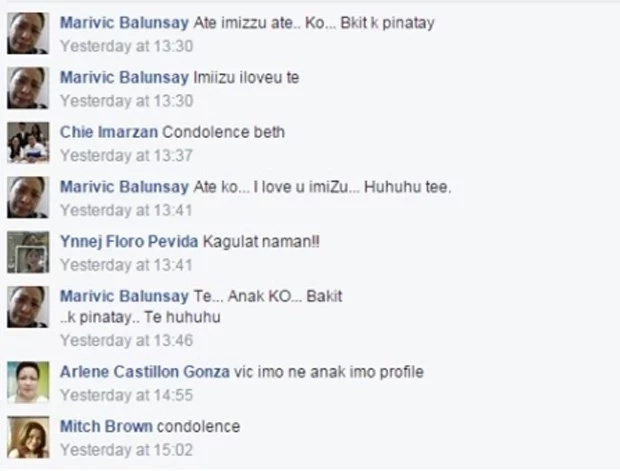 Netizens console OFW mother of college student chop-chopped victim