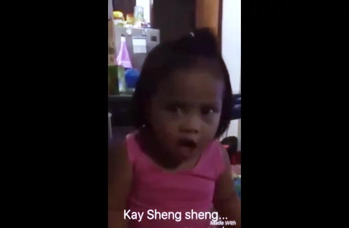 "Cute little girl impressed netizens with this ""don't replace mama!"" video"
