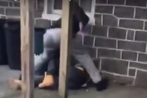 Guy Gets Knocked Out For Calling People Pussies
