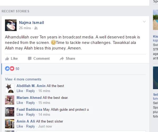Najma Ismail leaves KTN