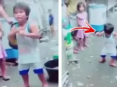 Cute kid dancing caught on video; his steps will make you wanna dance with him!