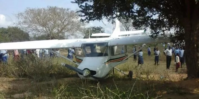 Shock as plane crash into a school
