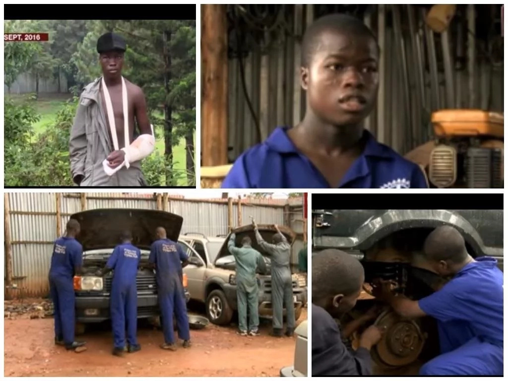 Boy who jumped from 6-storey building and survived now wants to be mechanic (photo)