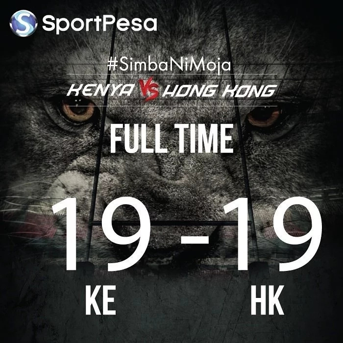 Kenya and Hong Kong Test Match Finishes as it Started