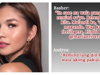 Sinupalpal! Andrea Torres fiercely fires back to basher
