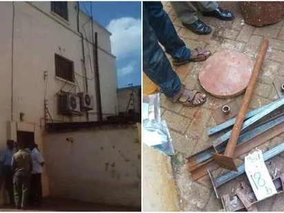 Police recover some of the equipment that Thika thugs used to dig tunnel and steal KSh 50 million from KCB in Thika