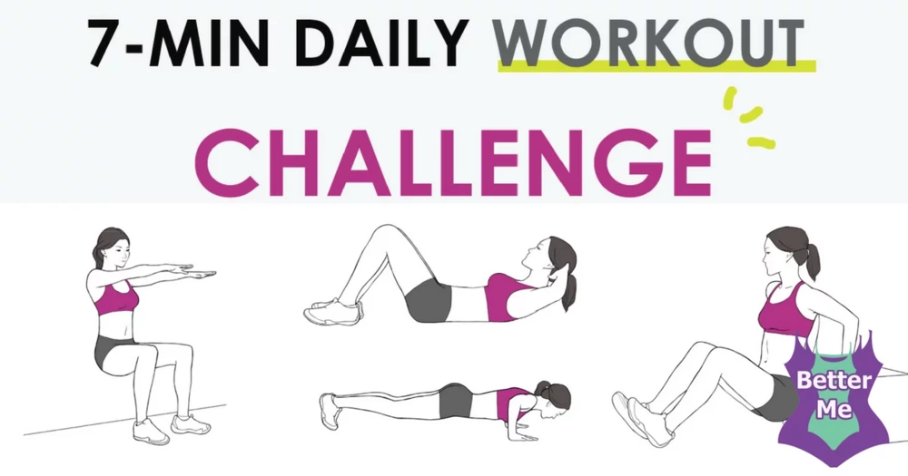 Try The 7 Minute Daily Workout Challenge To Get In Shape