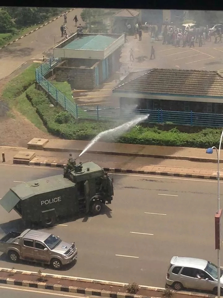 University of Nairobi students on a rampage