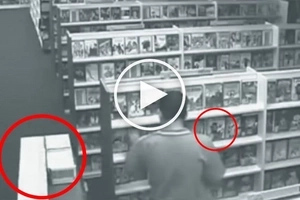This employee was diligently doing his job until something paranormal started to happen