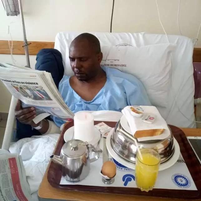 Mbunge wa NASA, Anthony Oluoch apokea matibabu hospitalini baada ya kuanguka kutoka kwa gari mtaa wa Mathare