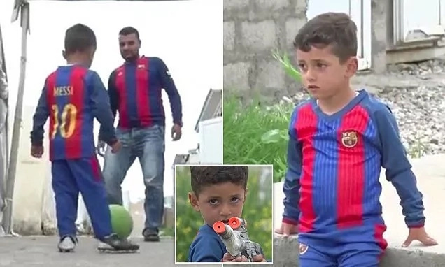 This family of Yazidi boy called Messi was forced by ISIS to change his name (photos, video)