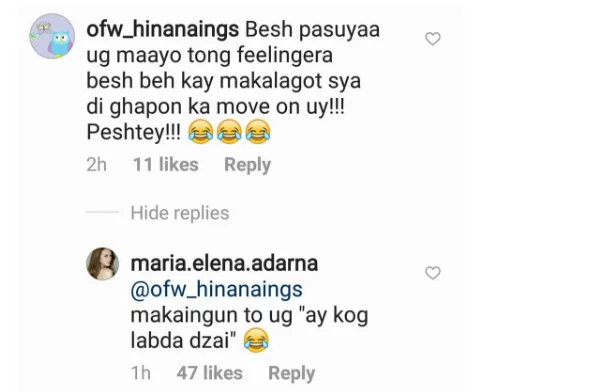 "May pinagseselos nga ba siya? Ellen Adarna quips about ""hindi maka-move on"" comment on her Instagram post"