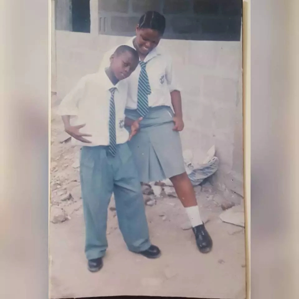 Diamond's love for older women started at an early stage and this High school TBT photo proves it
