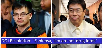 Wala raw kasalanan! DOJ clears Kerwin Espinosa, Peter Lim of charges