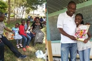 Tazama alichofanya mwanahabari maarufu baada ya mwanawe kufuzu katika mtihani wa KCPE(Video)