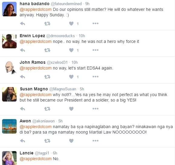 Netizens express reactions on Marcos' hero burial