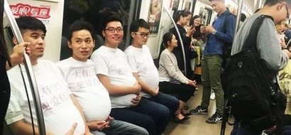 FUNNY: Why these men wear pregnant bellies? What they did for their wives is so touching!