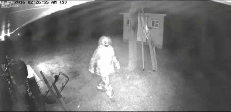 Killer Clown Trying To Enter Family's Home Is The Scariest Sh*t You Will See Today