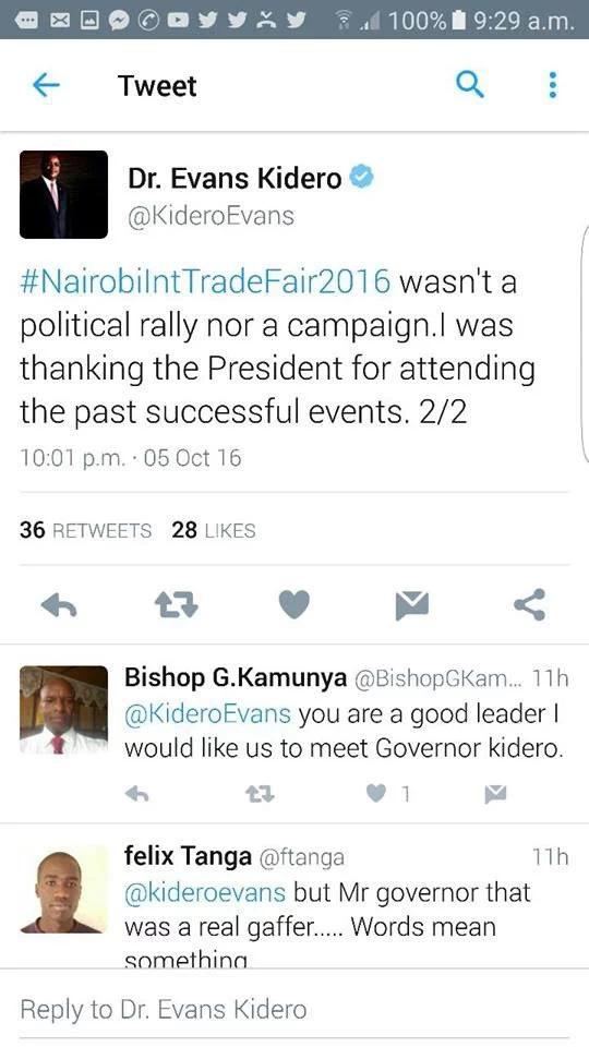 Kidero denies he endorsed Uhuru for the presidency in 2017