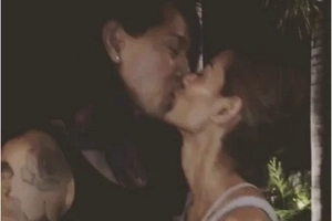Joey and Angelina Mead King, seen kissing in a video