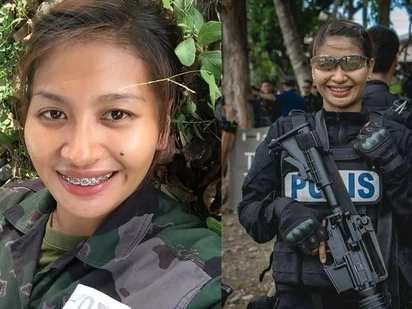 Meet PO3 Minerva Ramos, the only female police officer from Davao to undergo SWAT training!