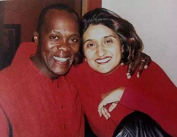 Jeff Koinange introduces his wife