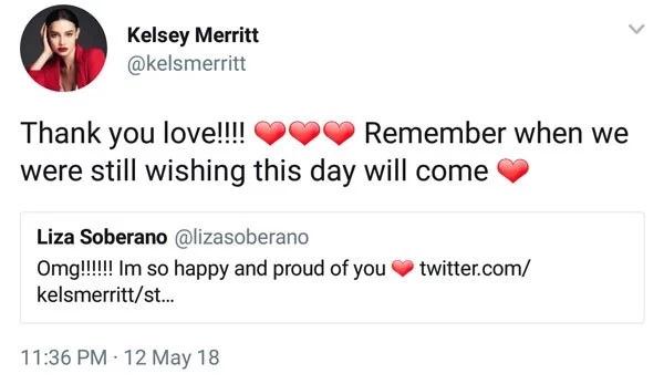 Kelsey Merritt shinare ang tweet niya noong siya's nangangarap pa lang na maging Victoria's Secret model