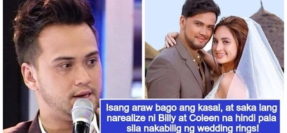 Epic fail! Billy Crawford & Coleen Garcia reveal that they forgot to buy wedding rings 1 day before event