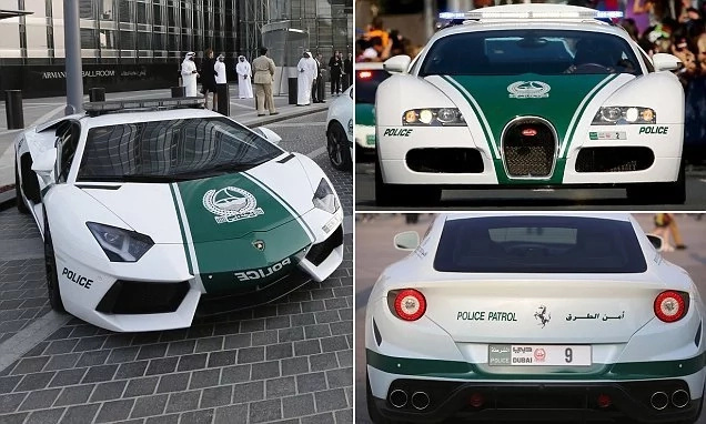 German Bugatti Veyron! Dubai police boasts the world's fastest cars, and they are gorgeous (photos, video)