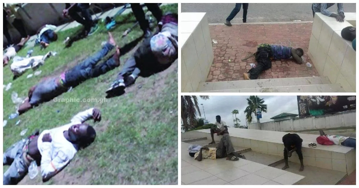 Blacked out! Youths pass out after binge on cheap beer at free-access concert (photos, video)