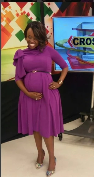 Popular NTV show host shows off her baby bump