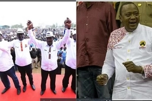 After Uhuru Kenyatta, Raila steps out in a white designer shirt. So who wore it better?