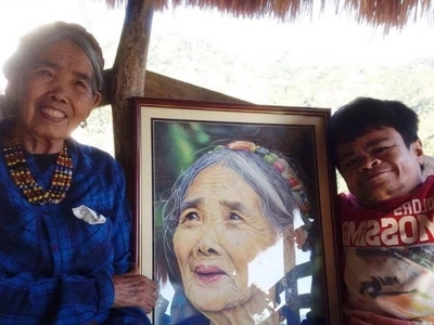 Dream come true! Artist with brittle-bone disease who created the viral portrait of Apo Whang-Od finally meets the oldest living tattooist