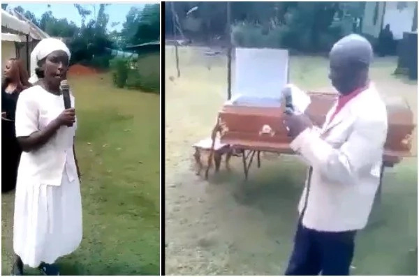 Bitter woman shows up at ex-husband's funeral confronts lady who snatched her man