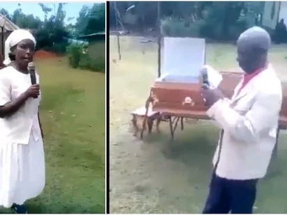 Bitter woman shows up at ex-husband's funeral, confronts lady who snatched her man