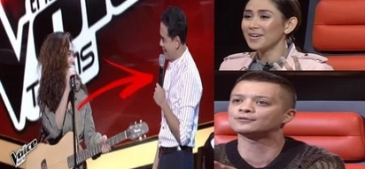 John Lloyd Cruz Graced The Voice Teens Philippines. Lloydie Gave Support To Sarah Geronimo As The Auditionee Is Turned Between Coach Bamboo & Sarah G.