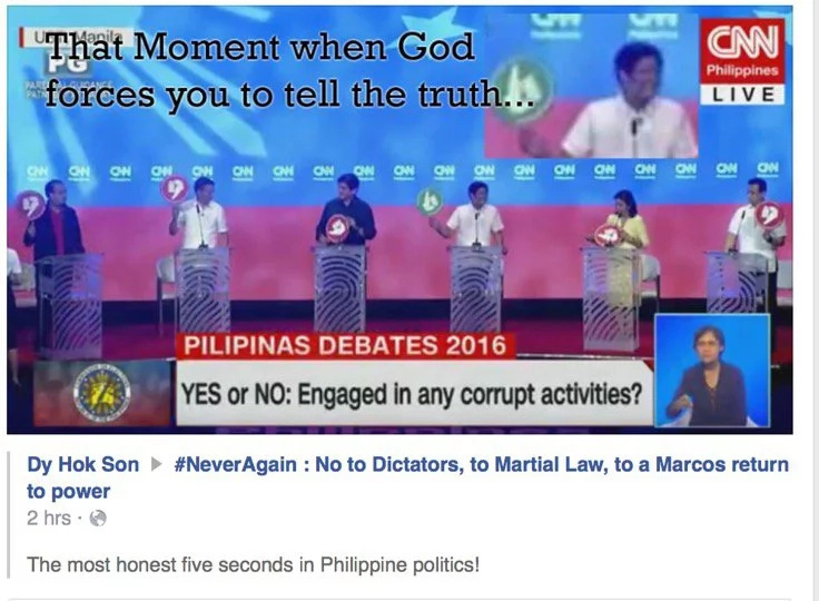 Did Marcos just admit to engaging in corruption?