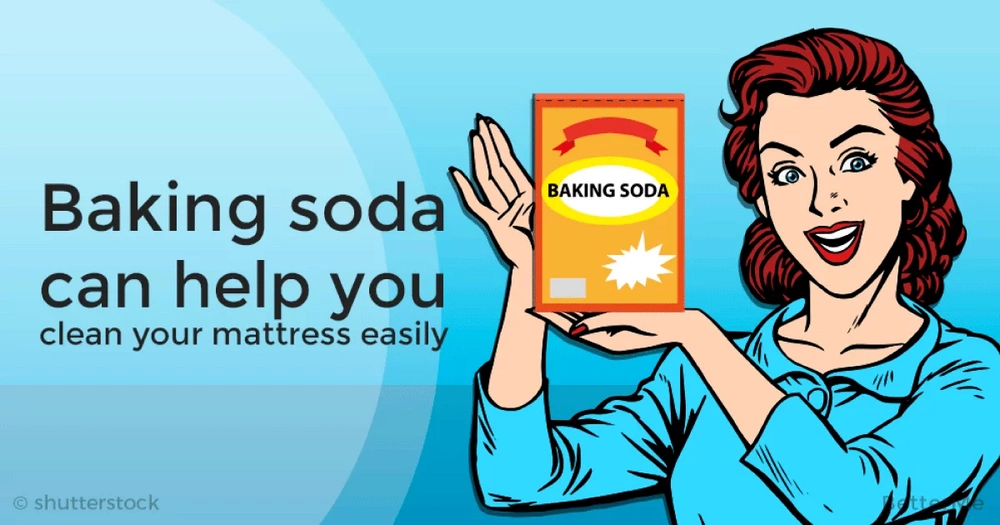 Baking soda can help you clean your mattress easily