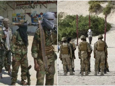 Photos of 4 al-Shabaab militants killed by firing squad